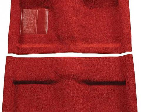 OER 1964 Mustang Convertible Passenger Area Nylon Loop Floor Carpet Set with Mass Backing - Red A4033B02