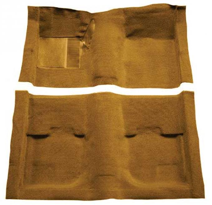 OER 1969-70 Mustang Fastback Nylon Loop Carpet without Fold Downs, with Mass Backing - Medium Saddle A4051B69