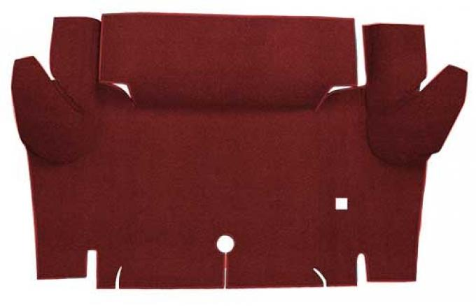 OER 1965-66 Mustang Convertible Nylon Loop Carpet Trunk Mat - Emberglow A4069A49