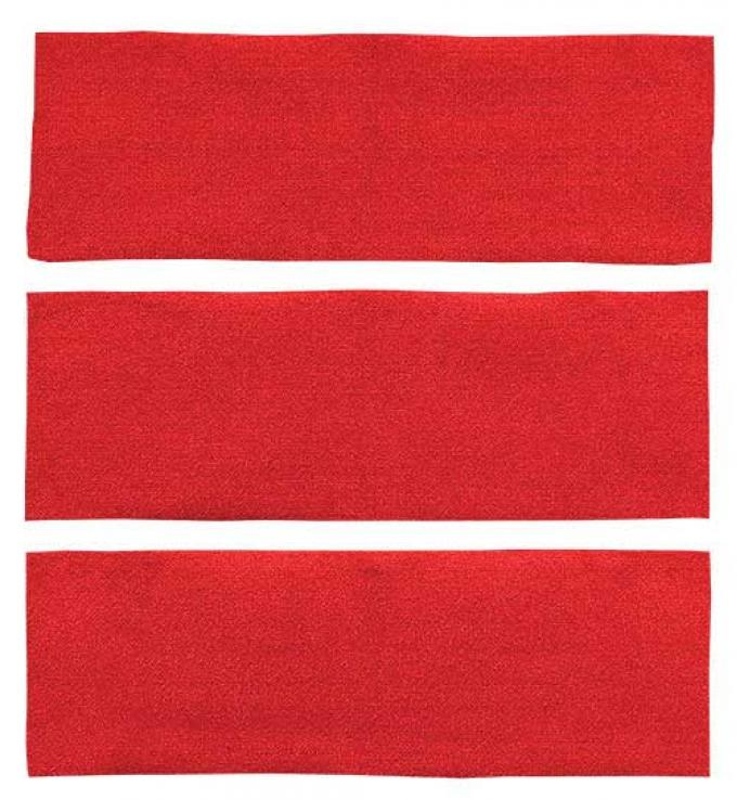OER 1969-70 Mustang Fastback Nylon Loop 3 Piece Fold Down Carpet Set - Red A4041A02