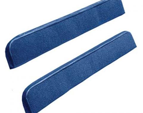 OER 1971-73 Mustang Door Panel Carpet Inserts - Medium Blue A4097A41