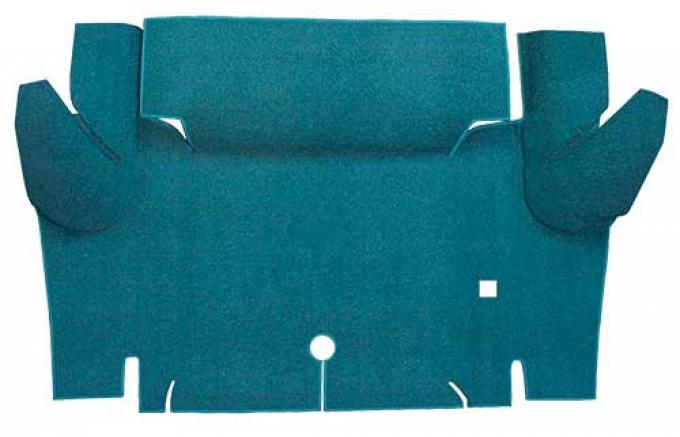 OER 1965-66 Mustang Convertible Loop Carpet Trunk Floor Mat - Aqua A4052A06