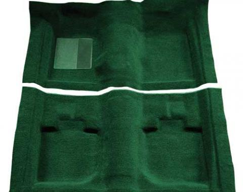 OER 1971-73 Mustang Convertible Passenger Area Nylon Loop Floor Carpet - Green A4059A39