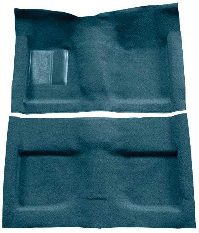 OER 1964 Mustang Convertible Passenger Area Loop Floor Carpet Set with Mass Backing - Aqua A4032B06