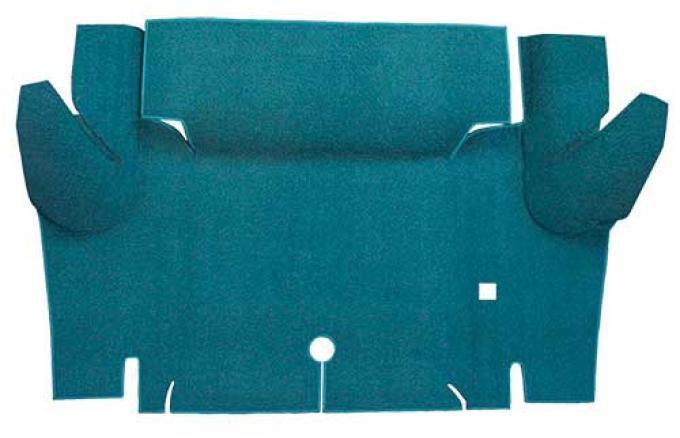 OER 1965-66 Mustang Coupe Nylon Loop Carpet Trunk Mat - Aqua A4065A06