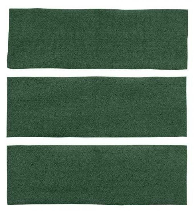 OER 1969-70 Mustang Fastback Nylon Loop 3 Piece Fold Down Carpet Set - Green A4041A39