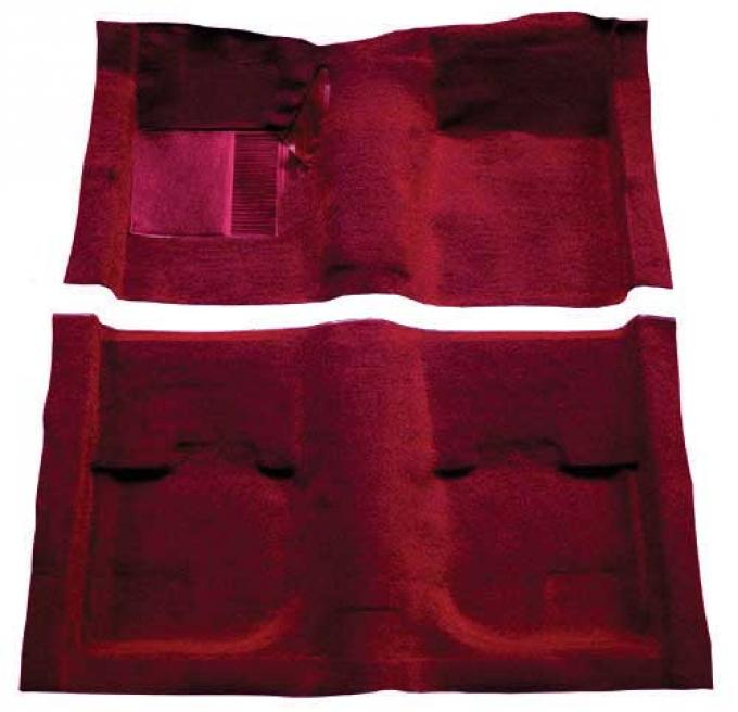 OER 1969-70 Mustang Fastback Nylon Loop Carpet without Fold Downs, with Mass Backing - Maroon A4051B15
