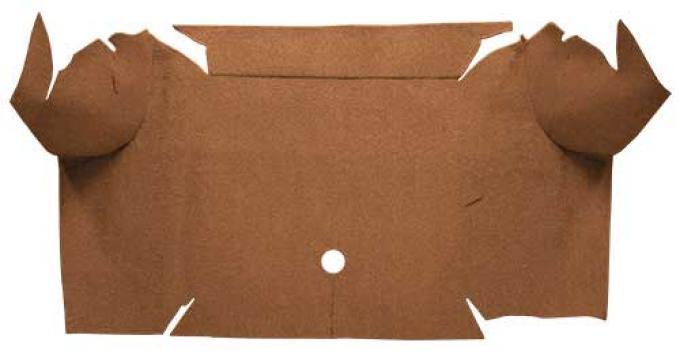 OER 1967-68 Mustang Convertible Loop Carpet Trunk Mat - Medium Saddle A4064A69