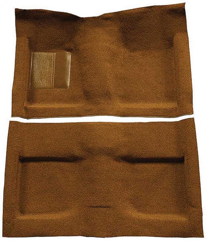 OER 1964 Mustang Convertible Passenger Area Nylon Loop Floor Carpet Set with Mass Backing - Saddle A4033B24