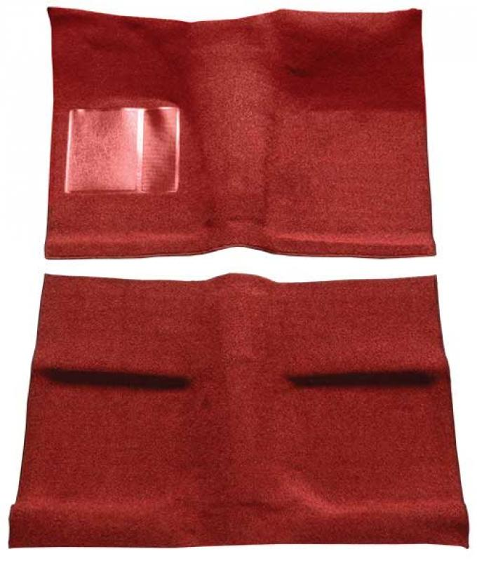 OER 1964 Mustang Coupe Passenger Area Loop Floor Carpet Set with Mass Backing - Red A4030B02