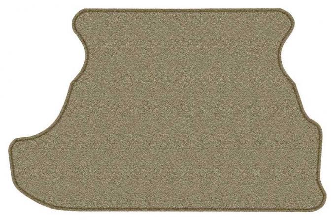 OER 1979-93 Mustang Coupe Cut Pile Carpet Trunk Mat - Medium Saddle A4028A69
