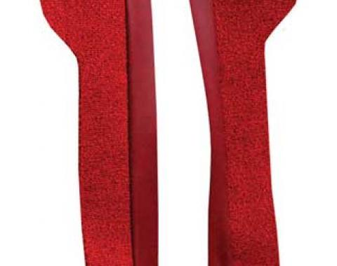 OER 1969-70 Mustang Door Panel Carpet Inserts - Red A4095A02