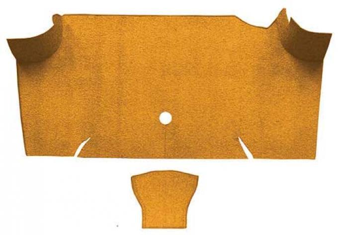 OER 1967-68 Mustang Fastback Nylon Loop Carpet Trunk Mat - Medium Saddle A4085A69