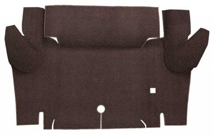 OER 1965-66 Mustang Convertible Loop Carpet Trunk Floor Mat - Dark Brown A4052A30