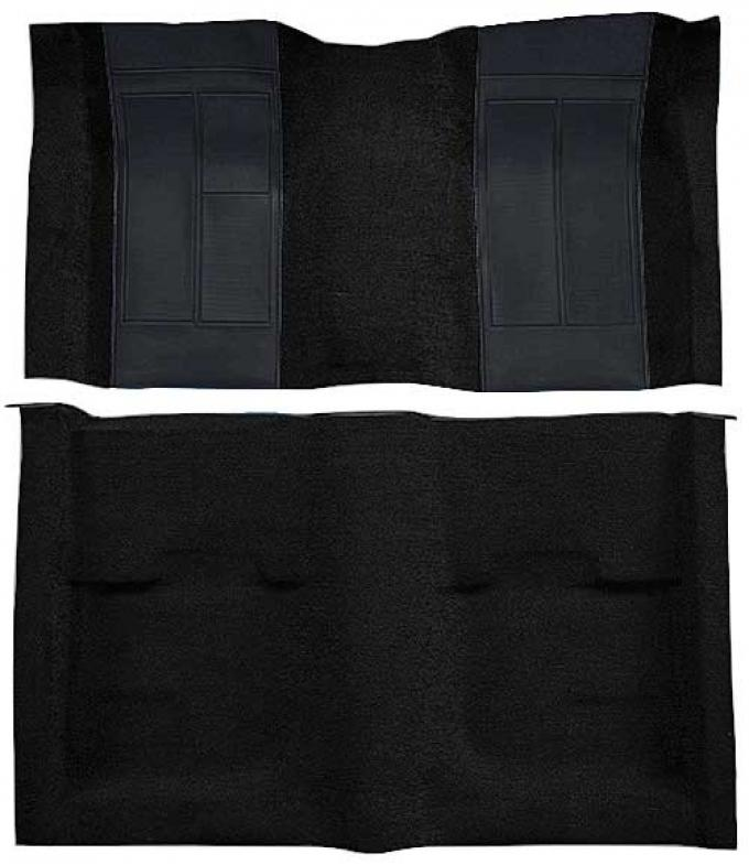 OER 1970 Mustang Mach 1 Nylon Passenger Area Carpet - Black with Black Inserts A4107A01