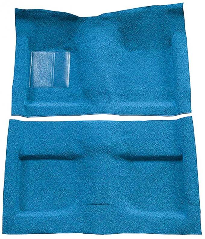 OER 1964 Mustang Convertible Passenger Area Nylon Loop Floor Carpet Set - Light Blue A4033A31