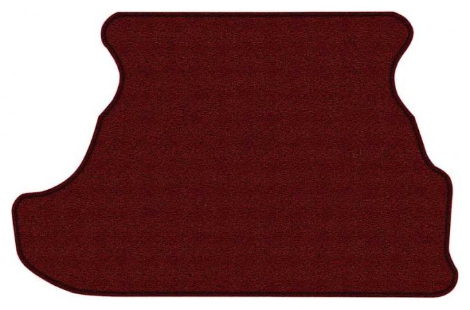 OER 1979-93 Mustang Coupe Cut Pile Carpet Trunk Mat - Maroon A4028A15