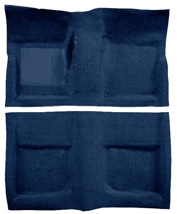 OER 1965-68 Mustang Coupe Passenger Area Loop Floor Carpet with Mass Backing - Dark Blue A4040B12