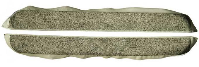 OER 1981-86 Mustang Coupe/Hatchback With Power Locks Door Panel Carpet Inserts - Medium Saddle A413069