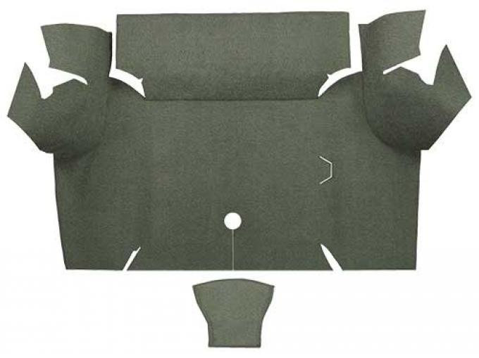 OER 1967-68 Mustang Coupe Loop Carpet Trunk Mat - Ivy Gold A4060A09