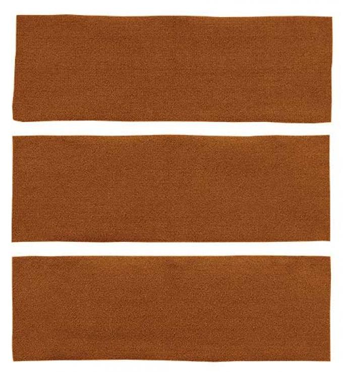 OER 1969-70 Mustang Fastback Nylon Loop 3 Piece Fold Down Carpet Set - Ginger A4041A29