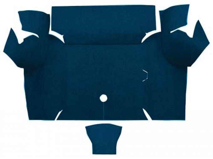 OER 1967-68 Mustang Coupe Nylon Loop Carpet Trunk Mat - Dark Blue A4077A12