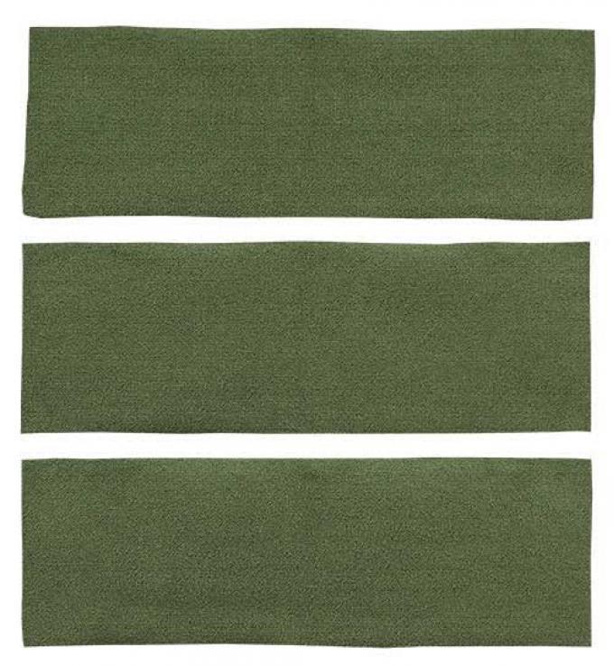 OER 1964-68 Mustang Fastback 3 Piece Fold Down Loop Carpet Set - Moss Green A4038A19