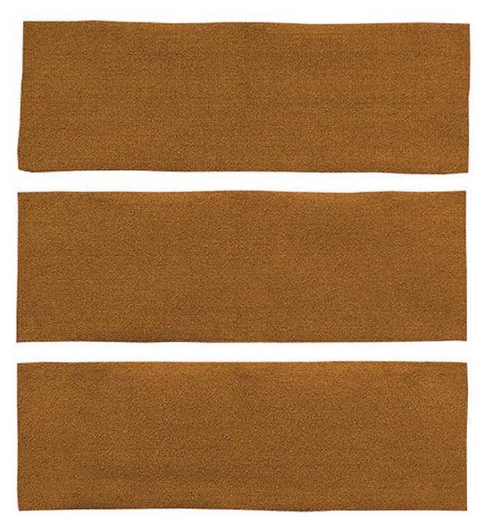 OER 1964-68 Mustang Fastback 3 Piece Fold Down Nylon Loop Carpet Set - Medium Saddle A4039A69
