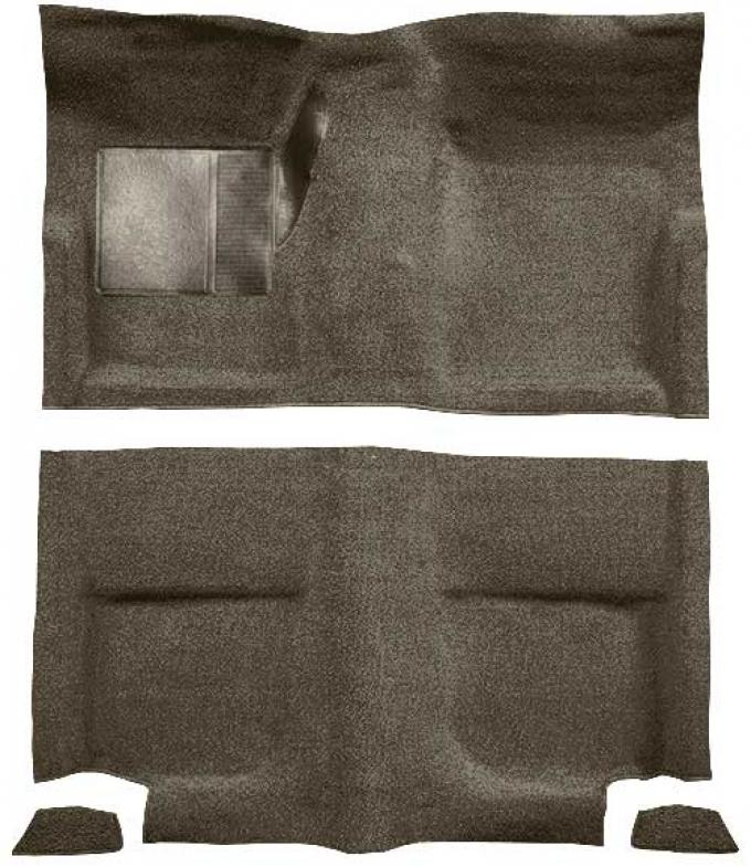 OER 1965-68 Mustang Fastback Passenger Area Loop Floor Carpet Set without Fold Downs - Parchment A4044A07