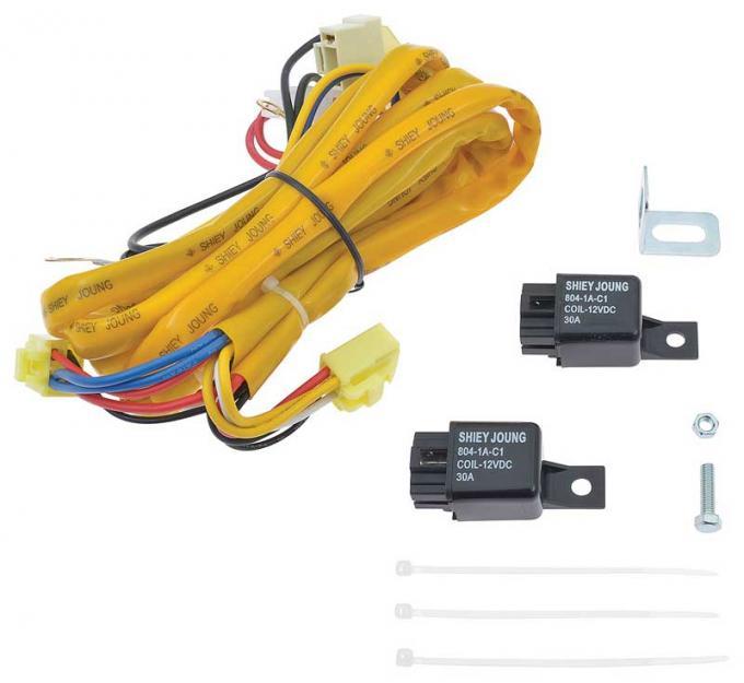OER H4 - 2 Headlamp System Wiring Upgrade Set MX01132