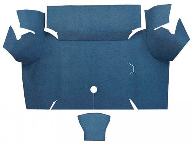 OER 1967-68 Mustang Coupe Loop Carpet Trunk Mat - Ford Blue A4060A62