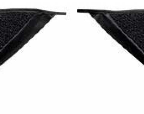 OER 1965-68 Mustang Coupe Loop Carpet Kick Panel Inserts - Black A4070A01
