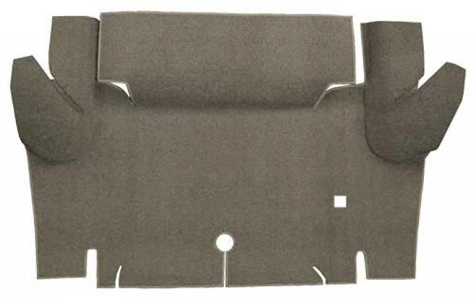 OER 1965-66 Mustang Convertible Loop Carpet Trunk Floor Mat - Parchment A4052A07