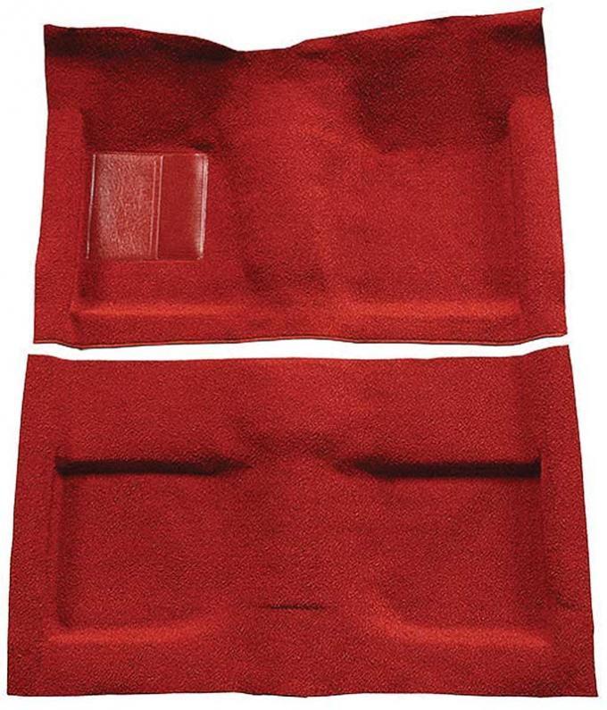 OER 1964 Mustang Convertible Passenger Area Nylon Loop Floor Carpet Set - Red A4033A02