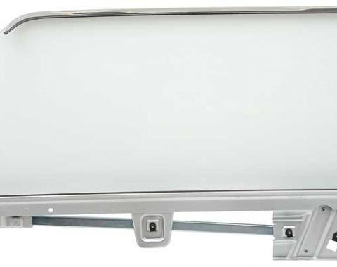 OER 1967-68 Mustang Coupe Door Glass Assembly Clear - LH (Driver Side) 21410DLCK