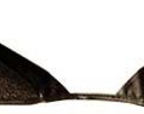 OER 1965-68 Mustang Convertible Loop Carpet Kick Panel Inserts - Dark Brown A4072A30