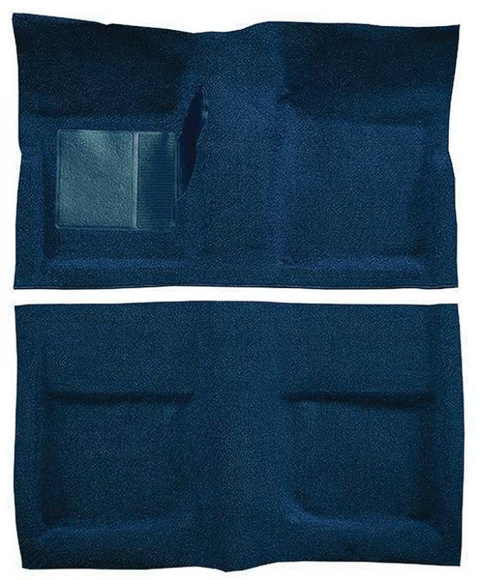 OER 1965-68 Mustang Coupe Passenger Area Nylon Loop Floor Carpet Set with Mass Backing - Dark Blue A4045B12