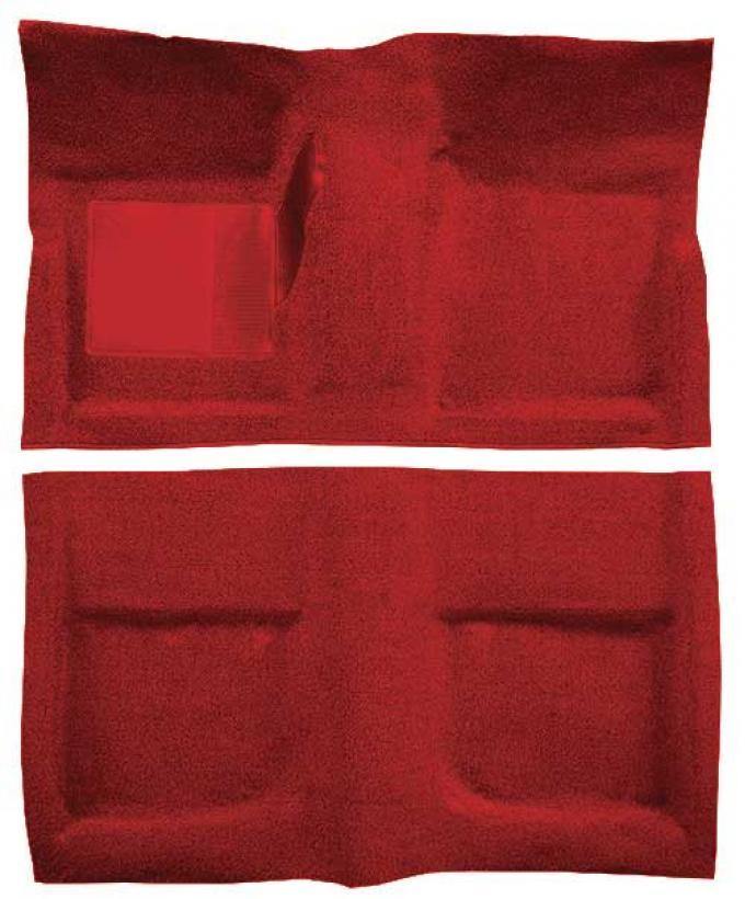OER 1965-68 Mustang Convertible Passenger Area Loop Floor Carpet - Red A4042A02