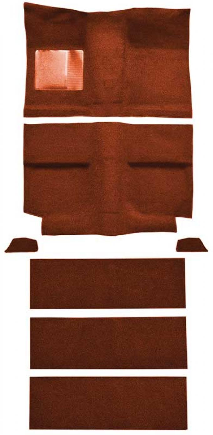 OER 1964 Mustang Fastback with Folddowns Passenger Area Nylon Loop Floor Carpet Set - Emberglow A4037A49