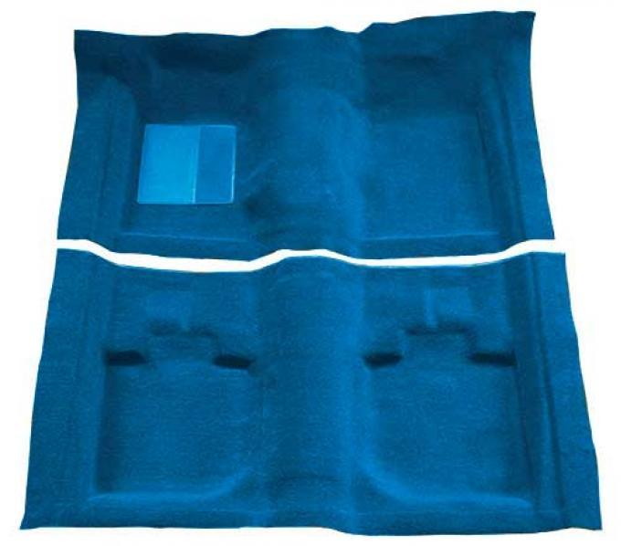 OER 1971-73 Mustang Convertible Passenger Area Nylon Loop Floor Carpet - Medium Blue A4059A41