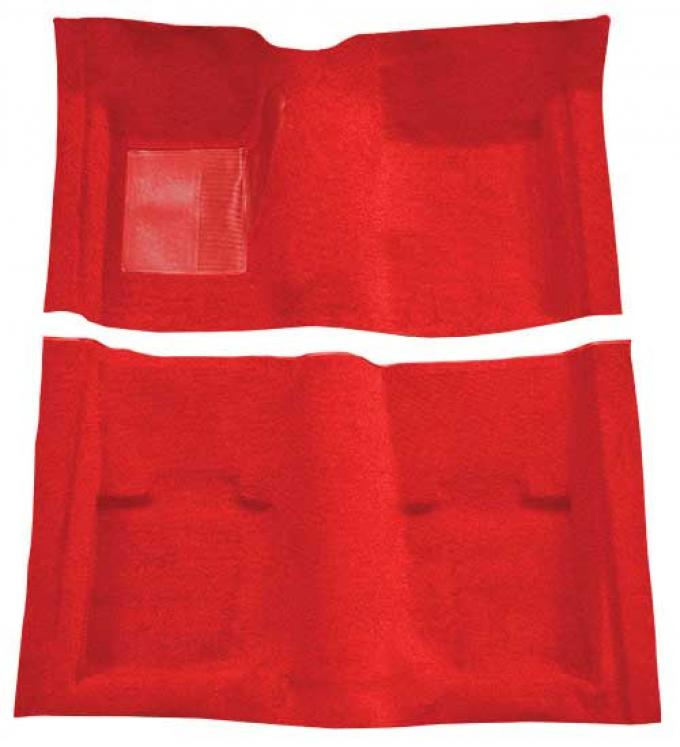 OER 1969-70 Mustang Convertible Passenger Area Nylon Loop Floor Carpet - Red A4053A02