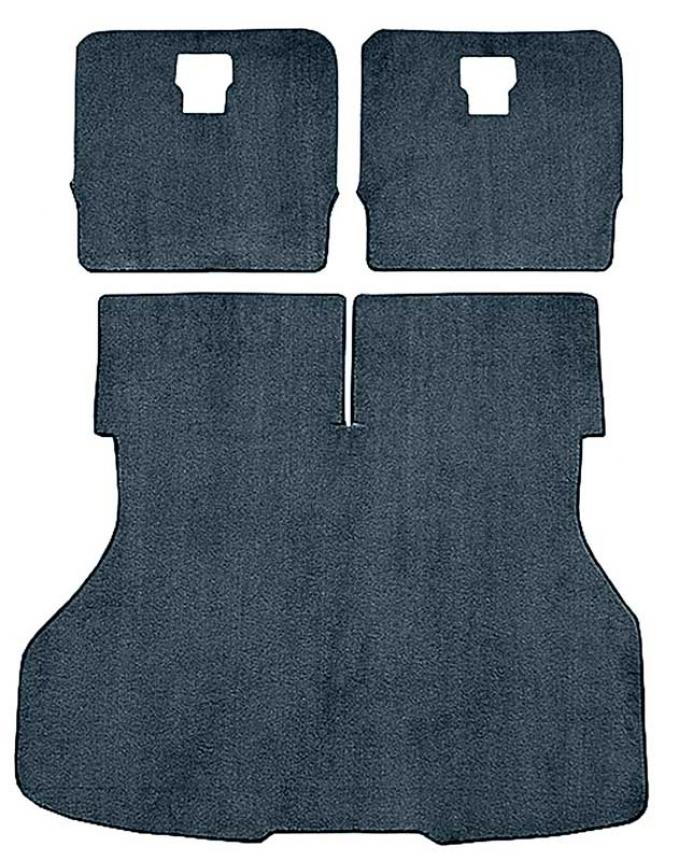 OER 1987-93 Mustang Rear Cargo Area Cut Pile Carpet With Mass Backing - Crystal Blue A4026B63