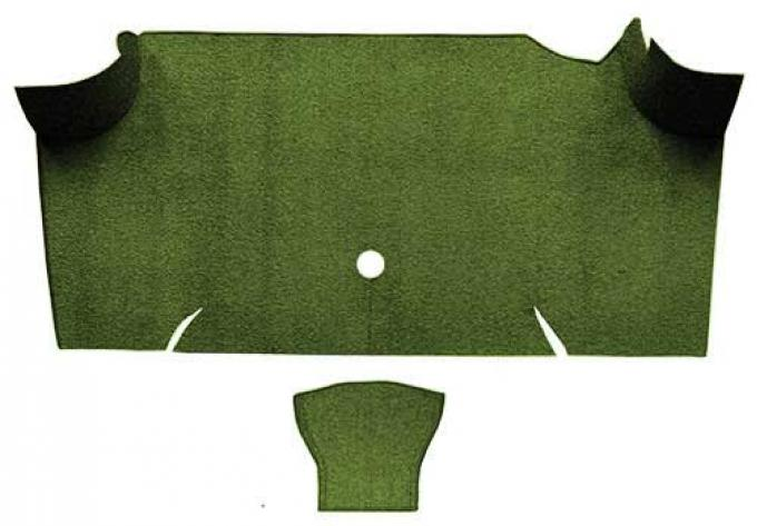 OER 1967-68 Mustang Fastback Nylon Loop Carpet Trunk Mat - Moss Green A4085A19
