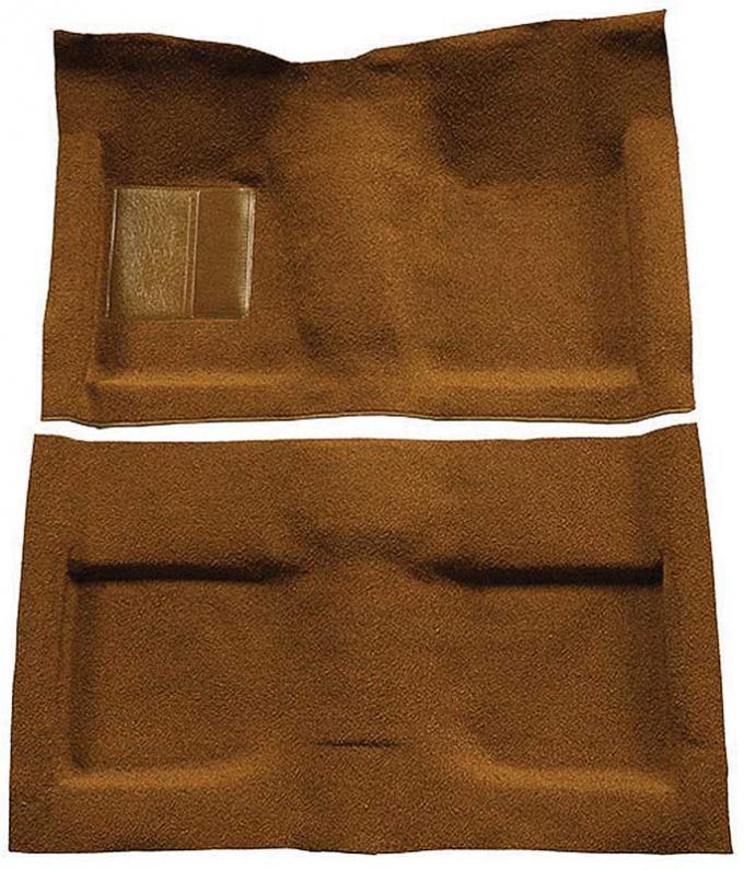 OER 1964 Mustang Convertible Passenger Area Nylon Loop Floor Carpet Set - Saddle A4033A24