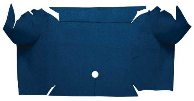 OER 1967-68 Mustang Convertible Loop Carpet Trunk Mat - Dark Blue A4064A12