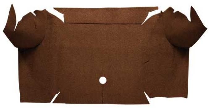 OER 1967-68 Mustang Convertible Loop Carpet Trunk Mat - Dark Saddle A4064A18