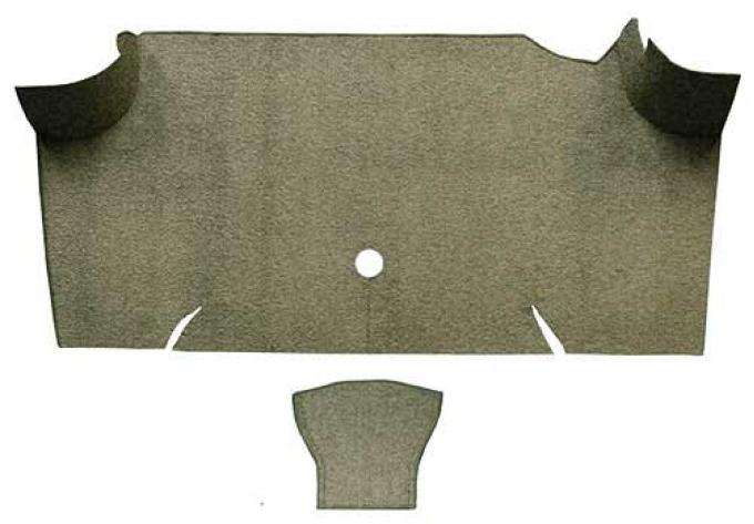 OER 1967-68 Mustang Fastback Loop Carpet Trunk Mat - Ivy Gold A4068A09