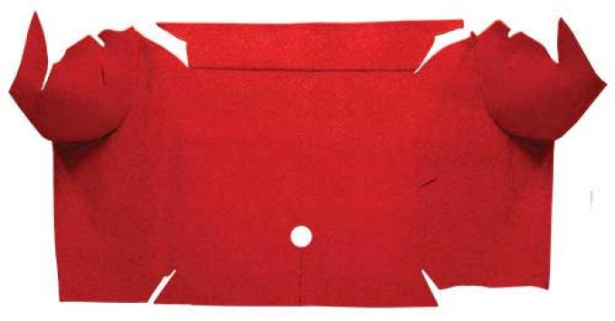 OER 1967-68 Mustang Convertible Nylon Loop Carpet Trunk Mat - Red A4081A02