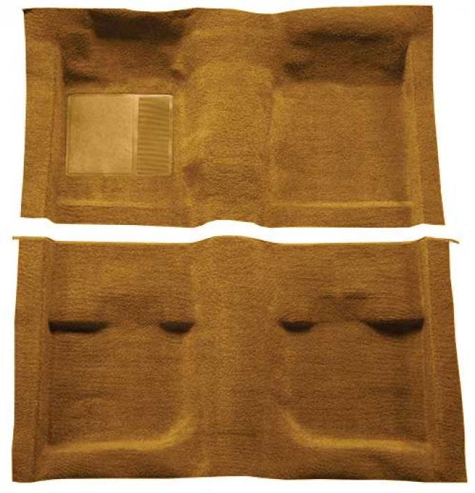 OER 1971-73 Mustang Coupe / Fastback Passenger Area Nylon Loop Carpet with Mass Backing - Medium Saddle A4057B69