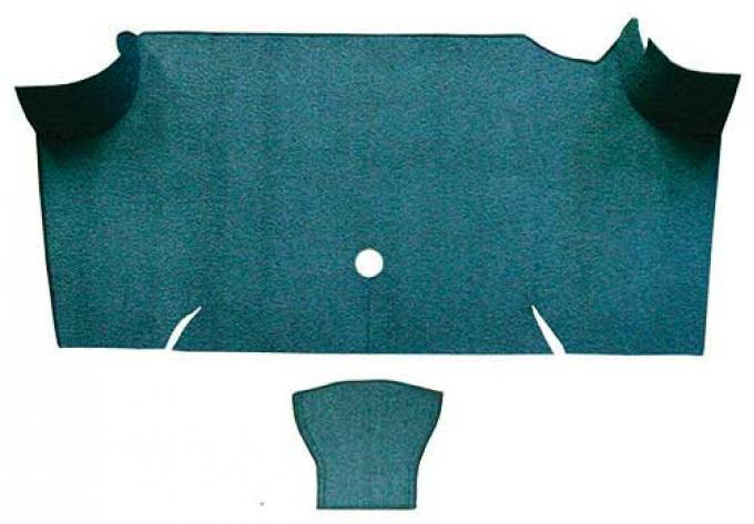 OER 1967-68 Mustang Fastback Loop Carpet Trunk Mat - Aqua A4068A06